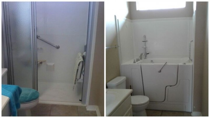 Before and After Walk in Tub Installation in TX