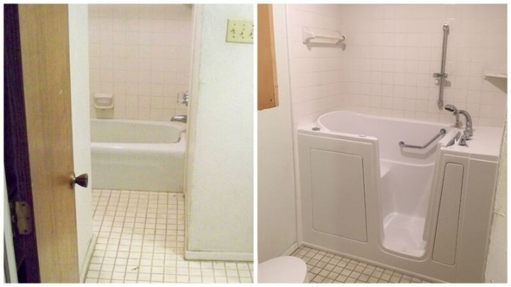 Before and After Walk in Tub Installation in Hurst, TX