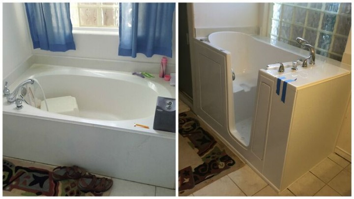 Before and After Walk in Tub Installation in Ingleside, TX